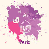 French Emotive Motive with romantic present Stock Images