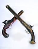 Flintlock Pistol. French and English flintlock pistol made around 1800 Stock Images