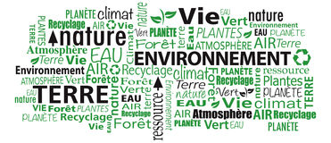 French Environment cloud word collage Stock Image