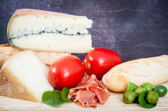 French, European breakfast selection Royalty Free Stock Images