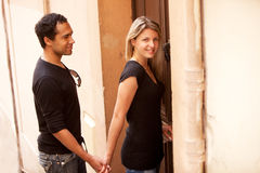 French European Couple Stock Images