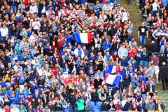 French supporters Stock Image