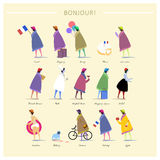 French fashion poster Royalty Free Stock Photography