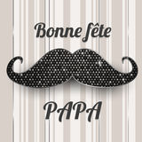 French Father's day card Royalty Free Stock Photo