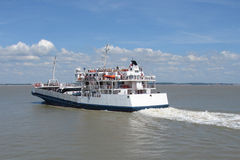French ferry boat. On the sea royalty free stock photography