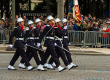 The French firemen  participate in Bastille Day military parade, Stock Photography