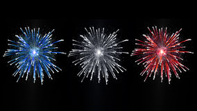 French fireworks display. French fireworks celebration national day Royalty Free Stock Image