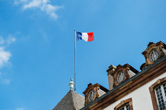 French flag city hall Stock Images