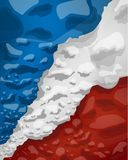 French flag of clouds of smoke, vector illustration stock illustration