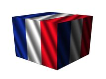 French Flag Cube Stock Images