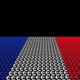 French flag euros Stock Image