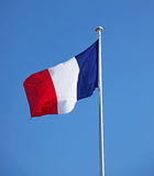 French Flag. A French Flag flying in the wind Stock Image