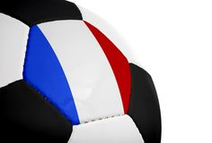 French Flag - Football Royalty Free Stock Photography