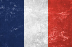 French Flag. France - French Flag on Old Grunge Texture Background stock illustration