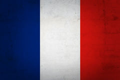 French flag. On grunge background Royalty Free Stock Images