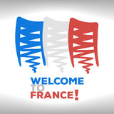The French flag Stock Images
