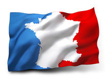 French flag label Royalty Free Stock Photography