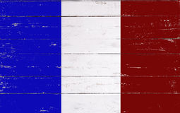 French flag painted on a wooden board Stock Photography