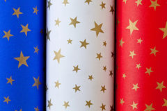 French Flag Paper Rolls Royalty Free Stock Photo
