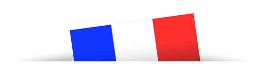 French flag partially hidden with shadow Stock Photos