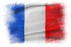 French flag. On plain background Stock Photo