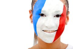 French flag portrait Royalty Free Stock Photo