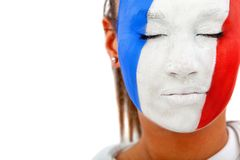 French flag portrait Royalty Free Stock Photos