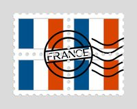 France flag on postage stamps Royalty Free Stock Image