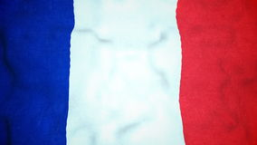 French Flag Seamless Video Loop stock video footage