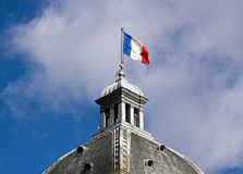 French flag on the Senate (Paris) Stock Image