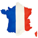 French flag shaped as france Stock Image