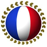 French flag sphere with euros Royalty Free Stock Photography
