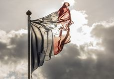 French Flag and Sun Royalty Free Stock Photography
