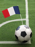 French Flag on Top of Soccer Ball Stock Photos
