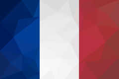 French flag - triangular polygonal pattern Royalty Free Stock Images