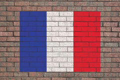 French flag on wall Royalty Free Stock Image