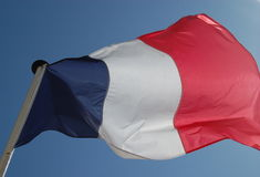 French Flag Waving Royalty Free Stock Photos