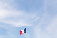 French Flag Waving in the Wind Outdoors, France Royalty Free Stock Photography
