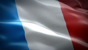 French flag waving in wind video footage Full HD. Realistic French Flag background. France Flag Looping Closeup 1080p Full HD 1920 royalty free illustration