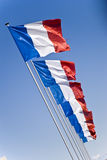 French flags. On normandy's beach - omaha Stock Image