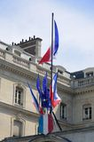 French flags at front oft building Stock Images