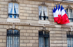 French flags Stock Photo