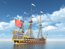 French Flagship La Sirene Royalty Free Stock Image