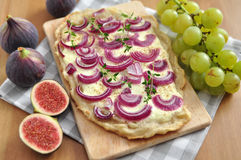 French Flammkuchen Stock Photos