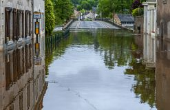 Flood in the countryside Royalty Free Stock Photography