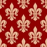French floral seamless fleur-de-lis pattern Stock Photo