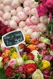 French Flowers at Market Stock Photography