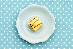 French Fondant Fancies, a type of Petit Four Royalty Free Stock Image