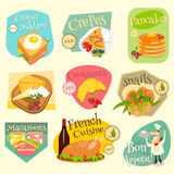 French Food Labels Set Royalty Free Stock Images