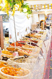 French food market. Dried fruits and vegetables Royalty Free Stock Photo